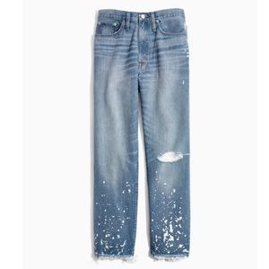 Madewell  The Dadjean Bleached High Waist Jeans 28